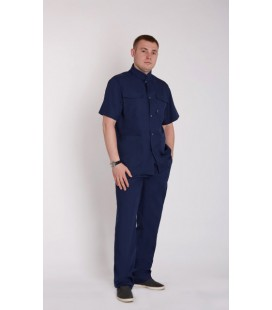 мужской медицинский костюм Симон 1340-1 синий