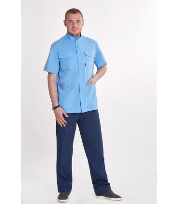 Мужской медицинский костюм Симон 1322-2 голубой