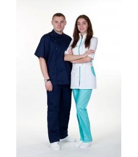 Мужской медицинский костюм 1342-2 Стоматолог тёмно синий
