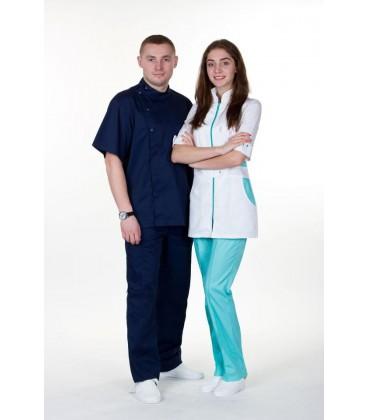 мужской медицинский костюм Герман 1342-2 тёмно синий