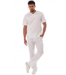мужской медицинский костюм Орэст 1345-5 белый