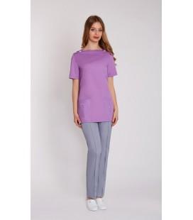женская медицинская куртка Ванда 1351-1 фиолетовый