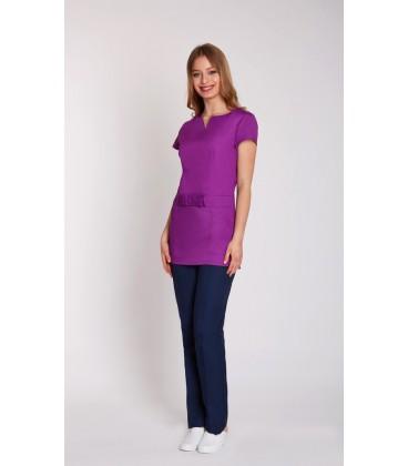 женская медицинская куртка Стэлла 1354-1 фиолетовый