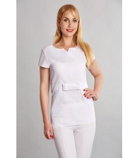 женская медицинская куртка Стэлла 1354-2 белый