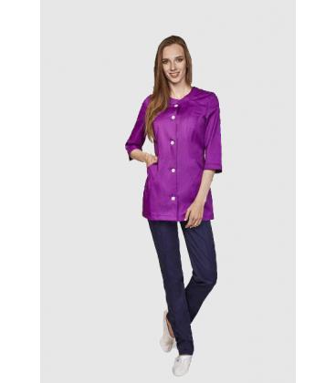 женская медицинская куртка София 1350-3 фиолетовый батист