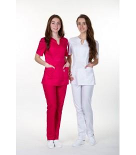женская медицинская куртка Грация 1355-1 белый