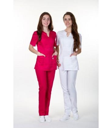 женская медицинская куртка Грация 1355-2 красный