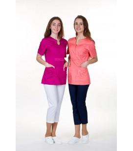 женская медицинская куртка Грация 1355-4 малиновый