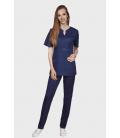 женская медицинская куртка Грация 1355-6 тёмно синий