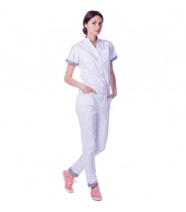 женский медицинский комбинезон 1367-1 Комбез белый