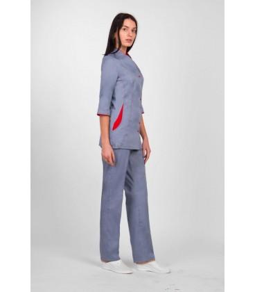 медицинский костюм 1130-4 Волошка