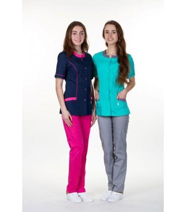 женский медицинский костюм 0054-8 Лаура розовый