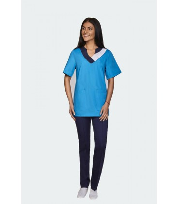 женский медицинский костюм Ванесса 0069-1 синий