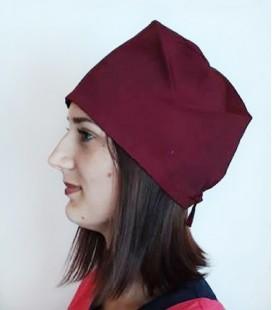 медицинская женская шапка 2518-2 бордовый