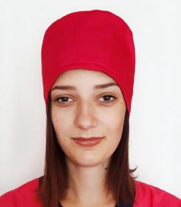 медицинская женская шапка 2518-3 красный