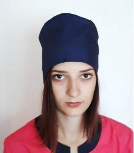медицинская женская шапка 2518-6 синий