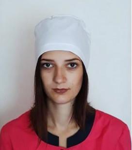 медицинская женская шапка 2518-8 белый