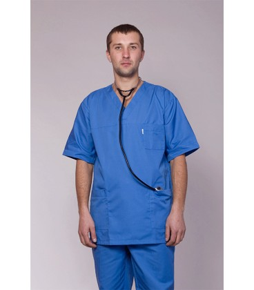 мужской медицинский костюм 3211 синий