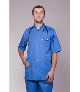 Мужской медицинский костюм 5210 на пуговицах