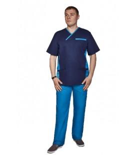 мужской медицинский костюм Орэст 1345-6 электрик