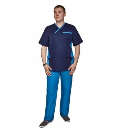 мужской медицинский костюм Орэст 1345-6 элеткрик