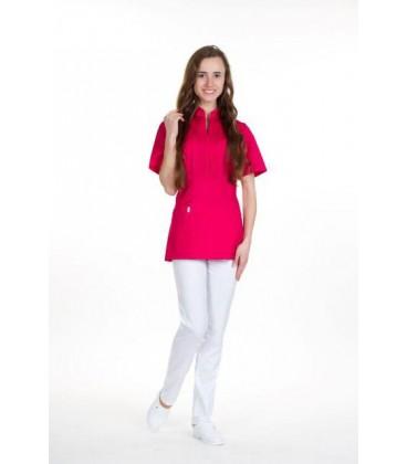женская медицинская куртка Мико 1356-14 малина коттон