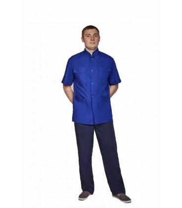 мужской медицинский костюм Симон 1340-4 электрик