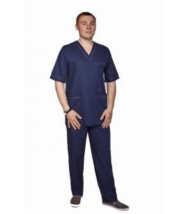 Мужской медицинский костюм 1343-4 Герман темно синий