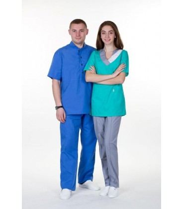 мужской медицинский костюм Марик 1341-2 синий