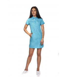 медицинский халат 1310-3 Белла голубой
