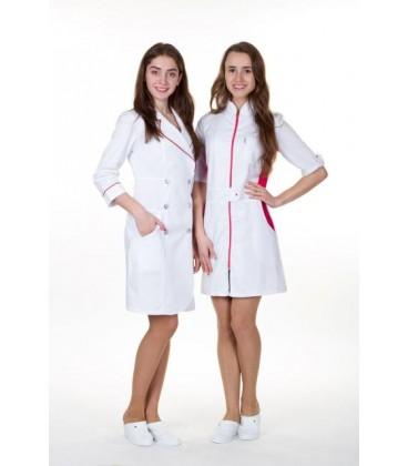 медицинский халат 0037-6 Леся с красным