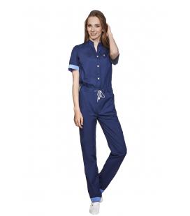 женский медицинский комбинезон 1367-3 Комбез тёмно синий
