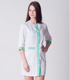медицинский халат 2020 с фиолетовым