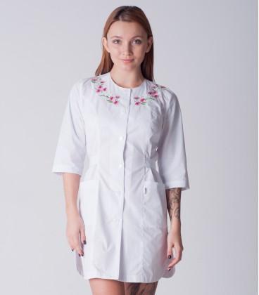 медицинский халат 2176 с вышивкой