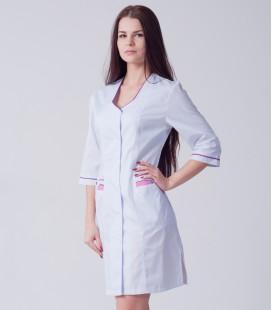 медицинский халат 5137 с окантовкой
