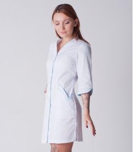 медицинский халат 5032 с голубым