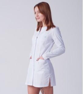 медицинский халат 4028 с длинным рукавом