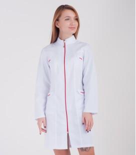 Медицинский халат Сюзанна 0078-1 белый коттон