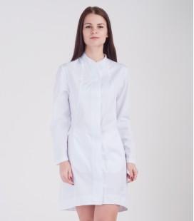 Медицинский халат Алина 0079 белый коттон