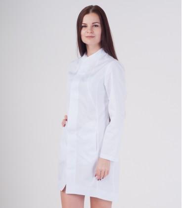 Медицинский халат Алина 0080 белый батист