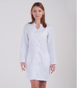 Медицинский халат Рада 0081 белый коттон