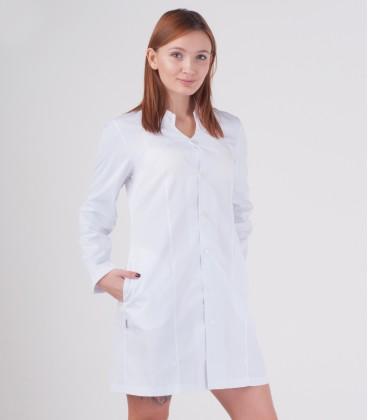 Медицинский халат Рада 0082 белый батист