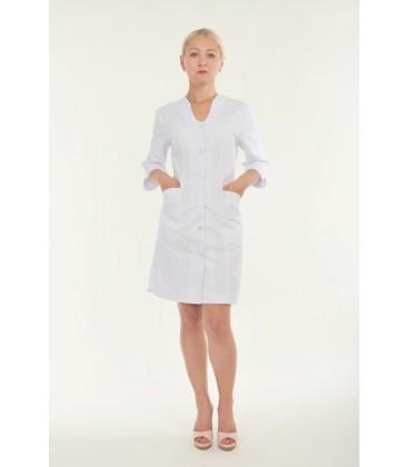 Медицинский женский халат 5110 на пуговицах