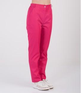 Женские медицинские брюки Черри 1369-3 малиновые