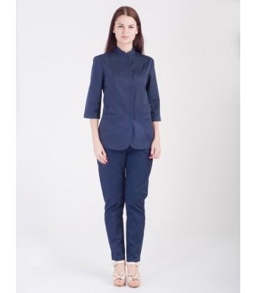Женские медицинские брюки Черри 1369-4 синие