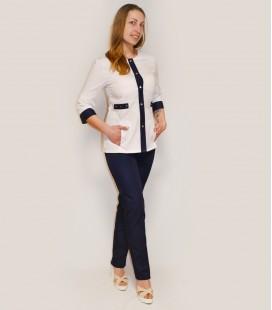 Медицинский костюм 0083-3 Валерия коттон синий