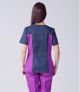 Медицинский костюм 0084-2 Лилия коттон белый