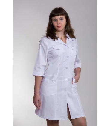 Медицинский женский халат 4111 белый