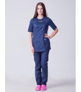 Медицинский женский костюм 5243 с разрезом