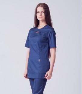 Медицинский женский костюм 5251 с разрезом